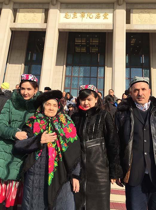 新疆维吾尔族百岁老人圆梦北京 组图