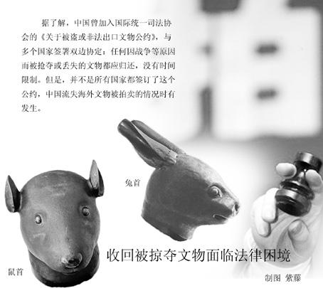 失海外的圆明园十二生肖兽首铜像再次触痛了国人.-流失文物追索陷
