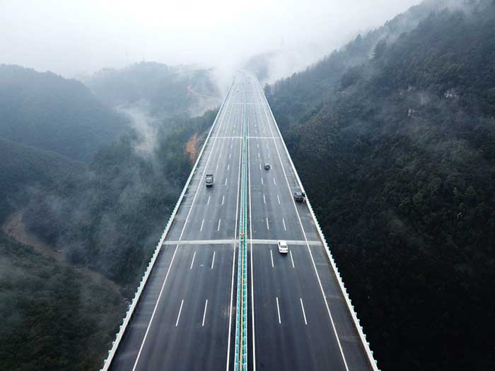 兰海高速遵贵扩容工程开通运营 组图